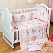 Dragonfly Crib Bedding Set 4pcs Baby Bedding Set Cotton Embroidery Quilit Cot Bumper Pillow