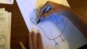 how to make a hand turkey unedited youtube