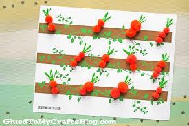 pom pom carrot patch free printable glued to my crafts