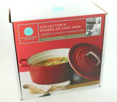 amazon com martha stewart enameled cast iron 6 qt round