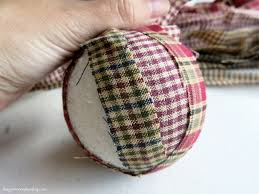 diy homespun fabric christmas ornament 4 different tutorials
