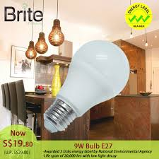daylight led light bulbs brite led light bulb 9w e27 cct daylight 6000k 720lm furniture