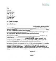 alimony agreement letter projects to try pinterest letters