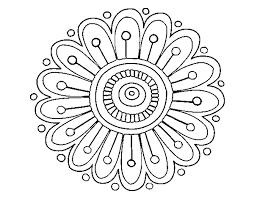 coloring page daisy mandala color online coloringcrew 549526