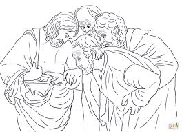 doubting thomas coloring page free printable coloring pages