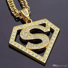 diamond necklace store images 2018 diamond superman hip hop pendant necklace street hip hop jpg