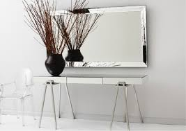 Narrow Console Table With Drawers Console Tables Mirrored Console Table With Drawers Black Mirrored