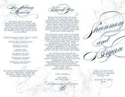 Tri Fold Program 28 Free Tri Fold Wedding Program Templates White Tri Fold