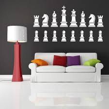 Diy Chess Set by Chess Set Pieces King Queen Knight Wall Sticker Home Decor Vinyl