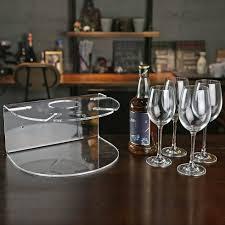 porte seau a champagne sur pied mural clair acrylique bouteille de vin rack avec porte verre de