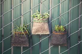 hanging felt planters maker crate