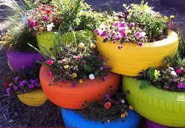 Pot Garden Ideas Beautiful Garden Ideas How To Make Flower Pots From Tires Home