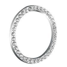 Silver Decorative Accessories Key Rings Auto Decorative Accessories Car Button Start Switch
