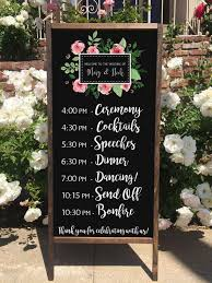 wedding program board rustic wedding program ceremony order schedule welcome wedding