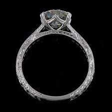 moissanite vintage engagement rings vintage moissanite cut engraved engagement