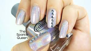 simple nail art with holographic polish a sparkly life for me