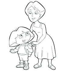 dora explorer coloring pages bestofcoloring