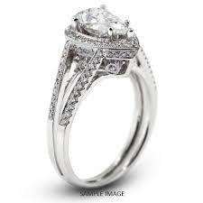 vintage halo engagement rings 18k white gold vintage halo engagement ring 1 96 carat total d vs1