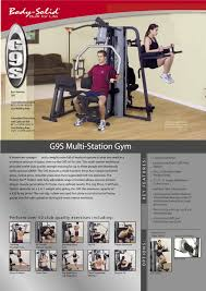 Bench Press Program Chart Gym Station Body Solid G9s Multi Station Gym With Leg Press