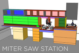 Table Saw Cabinet Plans Miter Saw Station Cabinets And Work Surface Jays Custom Creations