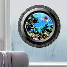 wall graphics decals promotion shop for promotional wall graphics 3d wall sticker ocean view window submarine decals porthole graphics sea portal peel stick sea cruise wall art kids rooms decor
