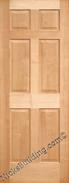 Solid Oak 6 Panel Interior Doors Solid Wood 6 Panel Interior Doors Pics On Lovely Home Designing