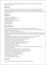 Resume Examples For Factory Workers by Professional Mill Worker Templates To Showcase Your Talent