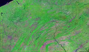 Map Of Pennsylvania Pennsylvania Satellite Images Landsat Color Image