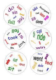 english worksheet dobble irregular verbs a game verbs 1