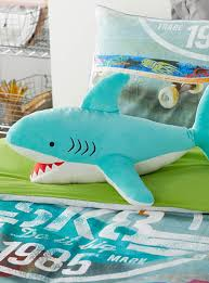 Home Decor Shop Online Canada Plush Playful Shark Cushion Hiccups Shop Kids Home Decor