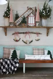 christmas mantel decor diy christmas mantel sled sign trees decor ideas lolly