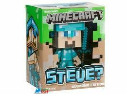 diamond steve minecraft steve diamond edition 6 inch vinyl figure ebay