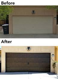 Decorative Garage Door Before And After Insulated Oak Garage Door With Carriage