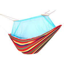 1 2 person cotton fabric hammock canvas mosquito net sleeping