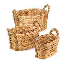 decorative baskets for storage stackable wicker baskets straw