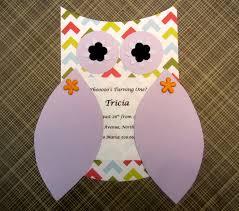 owl themed invitations diy inspired