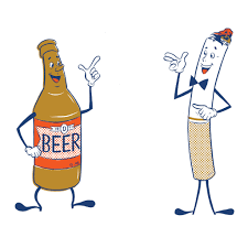 beer bottle cartoon beer and cigarette t shirt