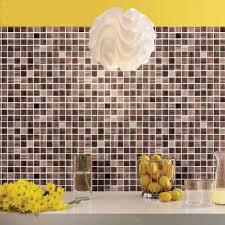 mosaique cuisine pas cher cristal mosaïque feuille sticker stickers cuisine dosseret tile
