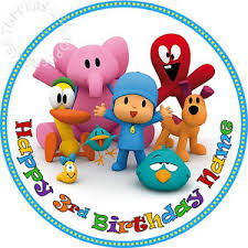 pocoyo cake toppers edible pocoyo birthday party cake topper wafer paper 7 5