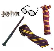 wizard costume wand harry potter glasses tie scarf wand gryffindor wizard book week