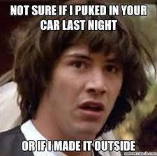 Puke Meme - in car