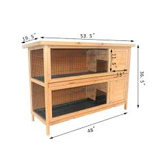 Heavy Duty Rabbit Hutch Pawhut 2 Story Wooden Rabbit Hutch
