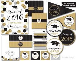graduation decor graduation party decorations black gold glitter class of 2017