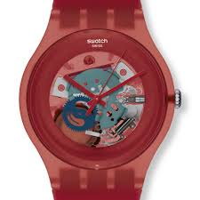 red swatch swatch red lacquered watch suor101 swatch new gent watches