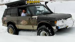 land rover 1992 range rover with arb diff lock on snow youtube