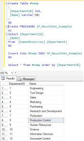t sql insert into new table sql server stored procedure insert into exec with result set