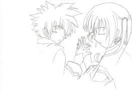 anime boy and holding hands cute couple drawing drawing of