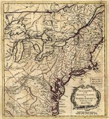 Map 0f America by 1750 To 1754 Pennsylvania Maps