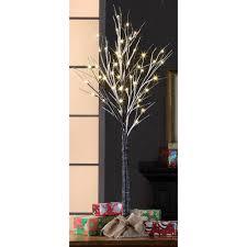 time pre lit 4 brown stick artificial tree