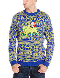 stevens men u0027s stegosaurus santa ride ugly christmas sweater